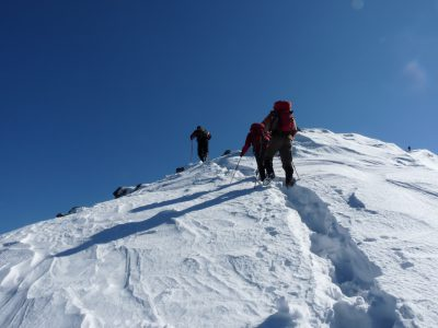 Winter mountaineering at Prokosko lake, Vranica